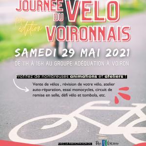 affiche journée vélo voironnais 29/05/2021